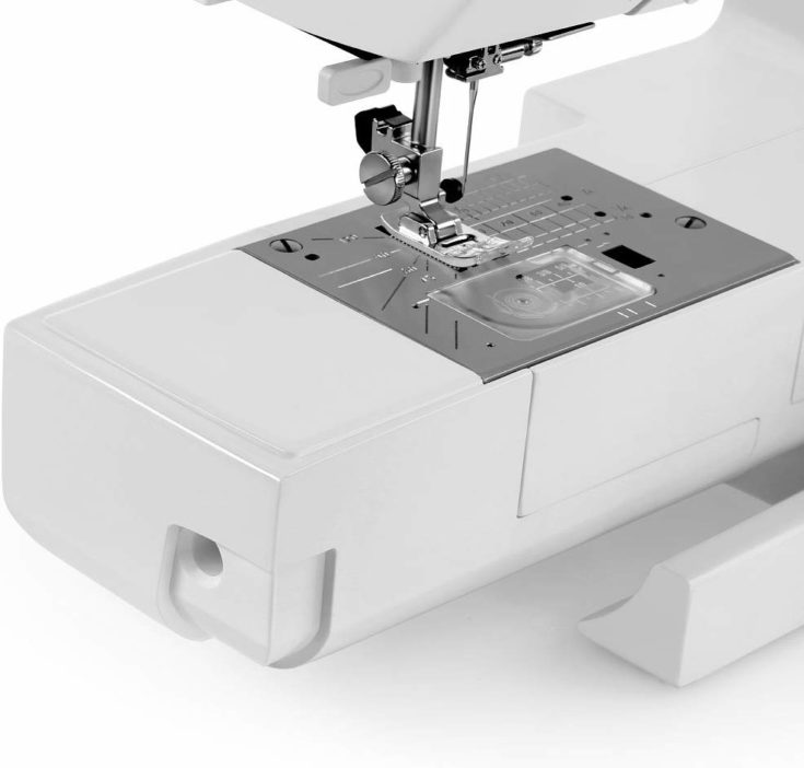 top-loading sewing machine with bobbin that drops from above