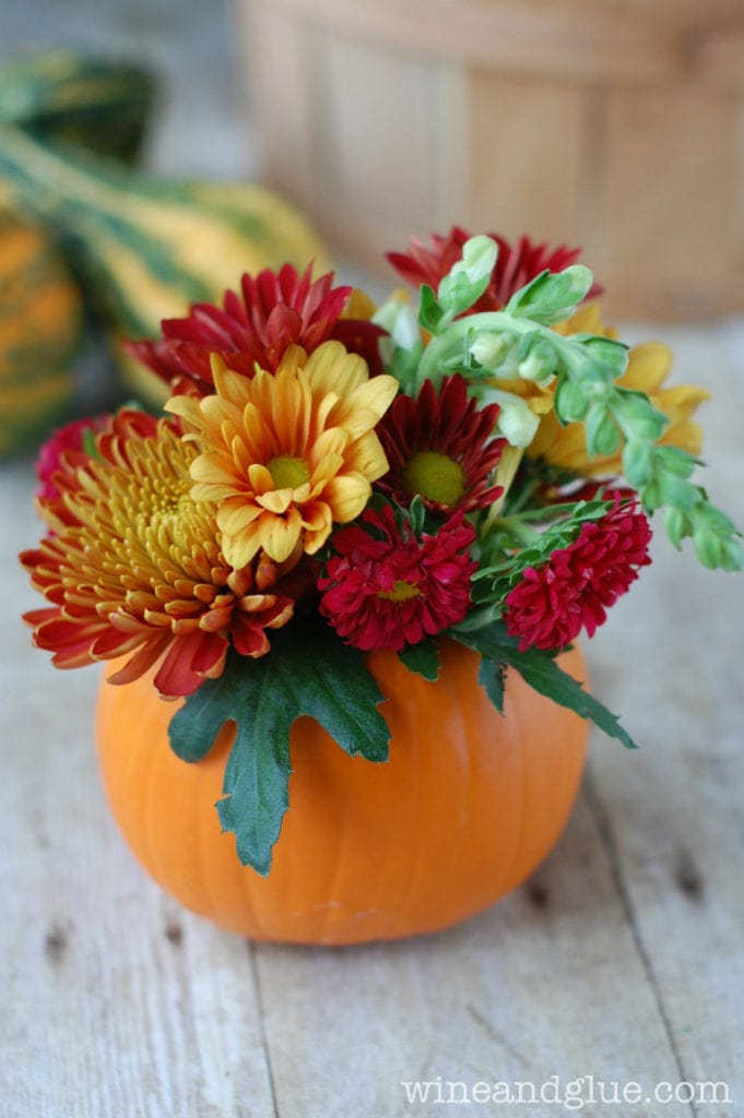 Wine and Glue Pumpkin Vase