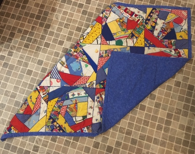 a finished cloth that has been quilted On a Regular Sewing Machine