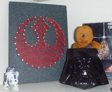 Rebel Alliance string art.