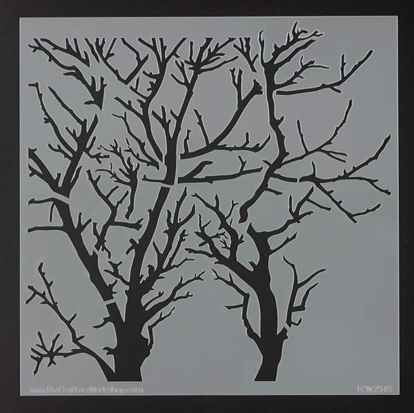 The Crafter's Workshop Stencil - Reversed Branches, 6'' x 6''