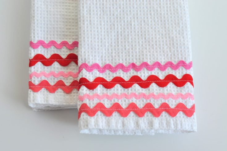 two pairs of Rick Rack Dish Towels