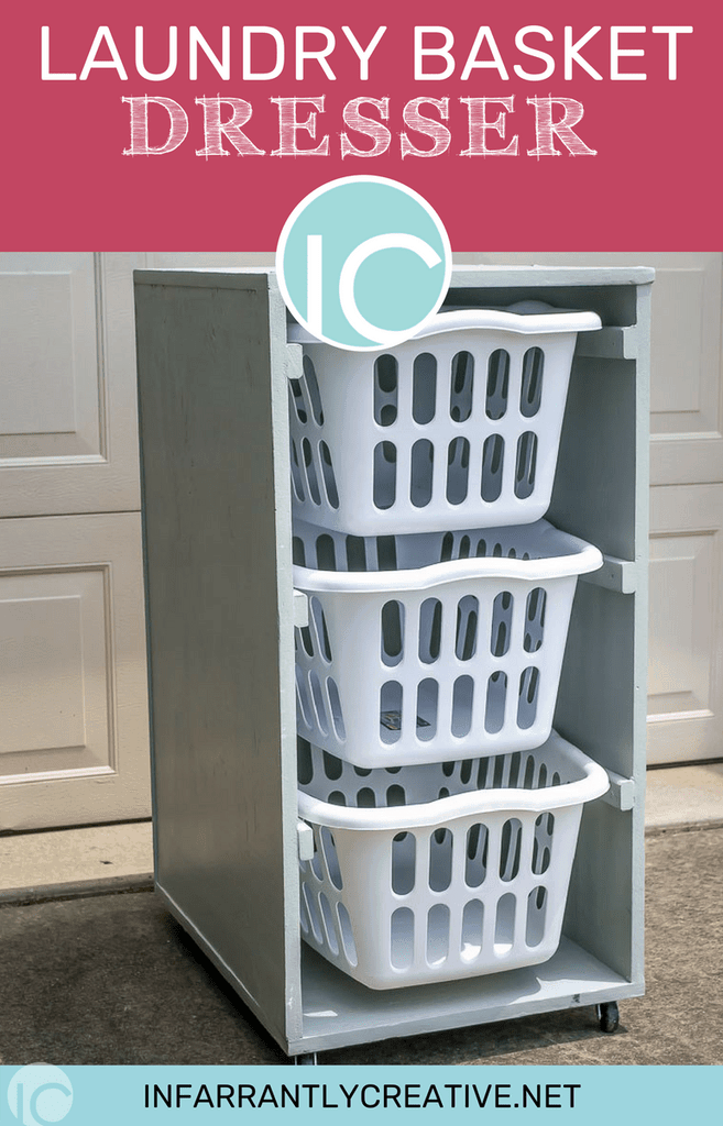 Infarrantly Creative 3 Layers Rolling Laundry Basket Dresser