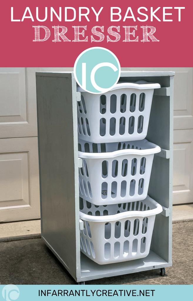 Infarrantly Creative 3 Layers Rolling Laundry Basket Dresser