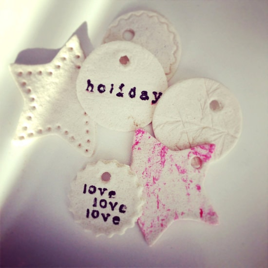 Salt Dough Assorted Shapes with Love and Holiday Written on it