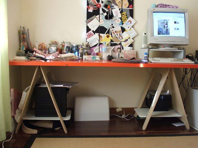 Sawhorse Craft Table – Large Version