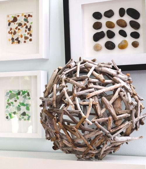 Sculptural Driftwood Orb artistic design