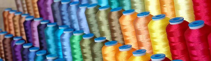 Different colors of Serger Thread