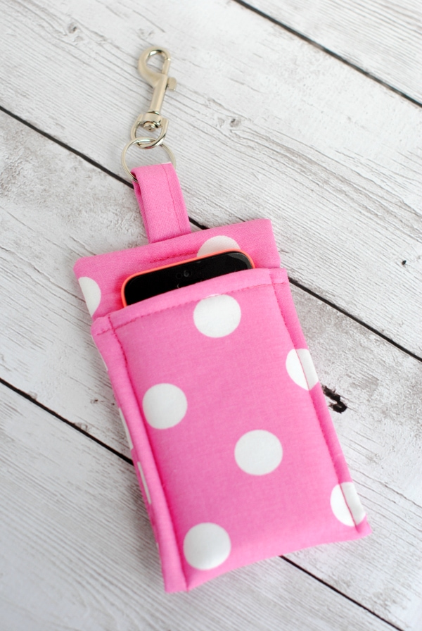 Simple Phone Wallet White Dots Pattern