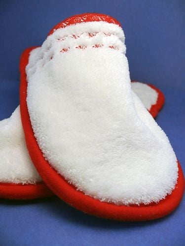 Spa Slippers white and red color combination