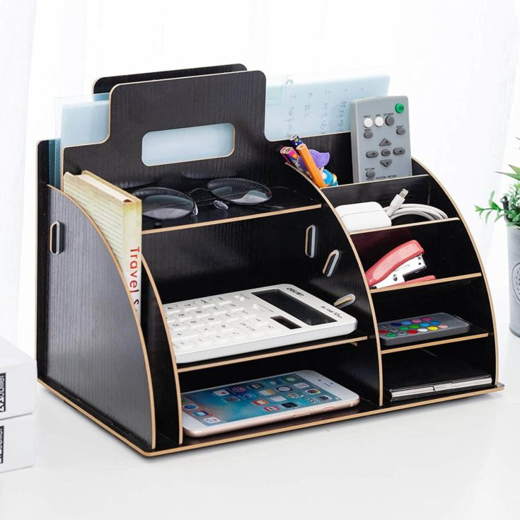 Stationary Organizer full of office supplies