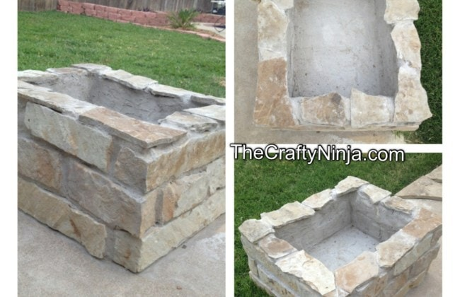 The Crafty Ninja Gorgeous Stone Fire Pit