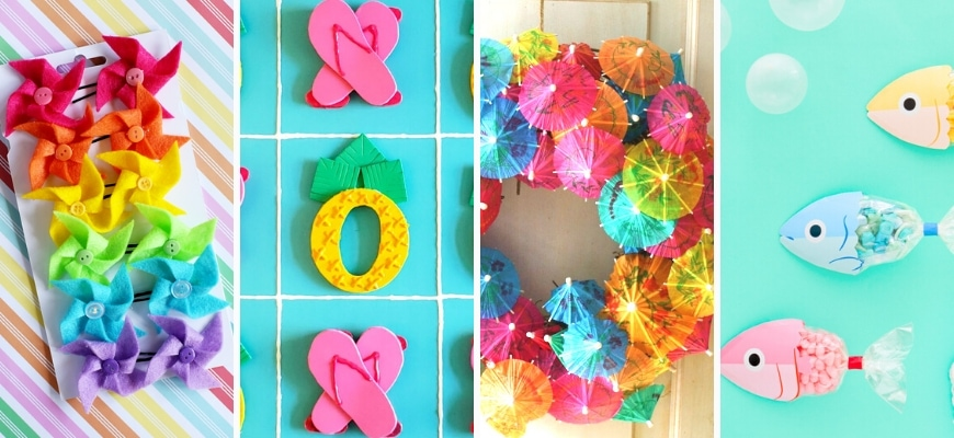 Four different Summer Crafts