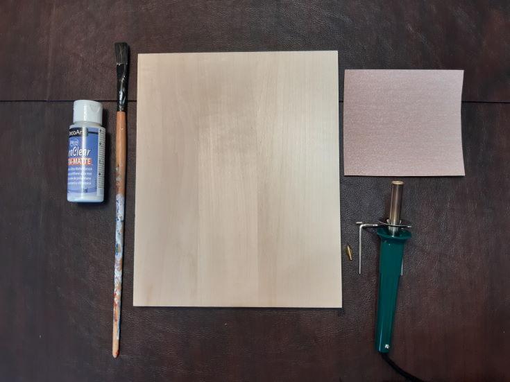 Polyurethane, wood, brush