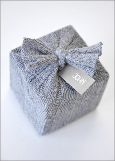 Gray Sweater Gift Wrapper