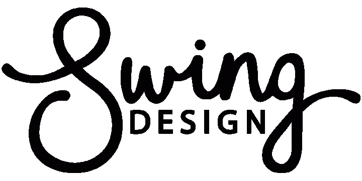 Swing Design logo in white background
