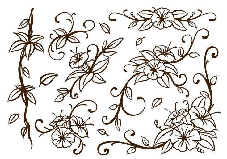 Swirling Flower Doodles