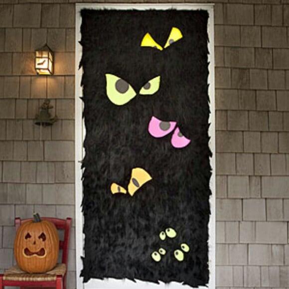 Textured Halloween Door Décor