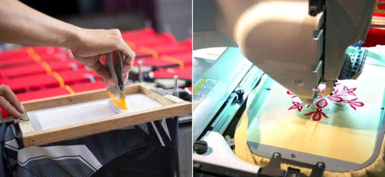 Screen Printing vs Embroidery: Decorative Options for Your Fabric