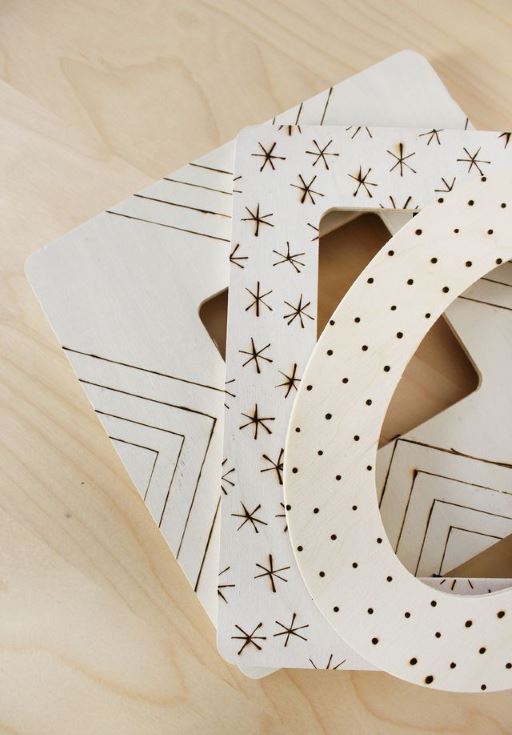 Cute Photo Frame Patterns in wooden background