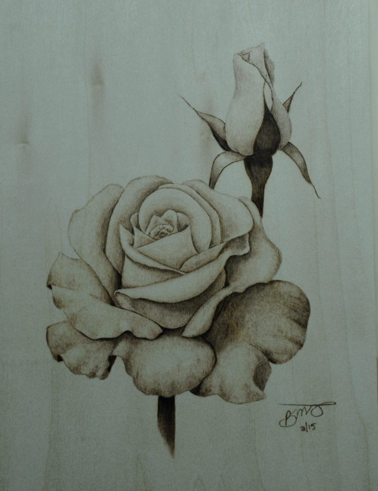 This Realistic Blooming Rose