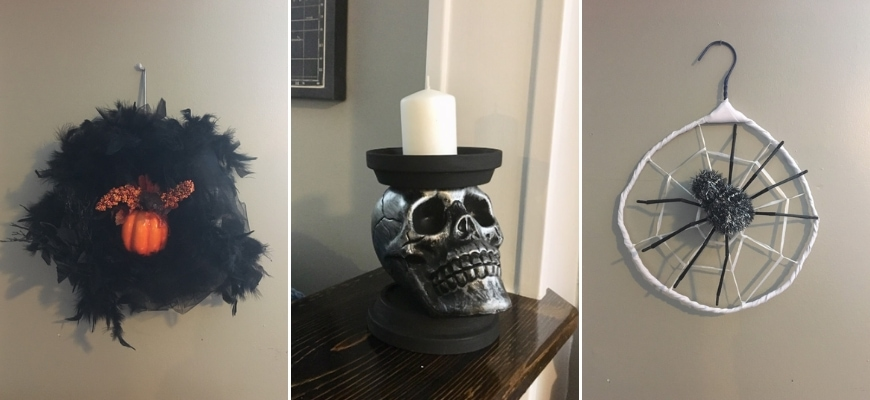 Collage images of DIY Halloween Decorations