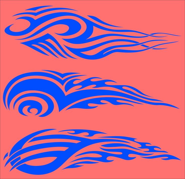 Tribal Flames.Vector illustration ready for vinyl cutting.