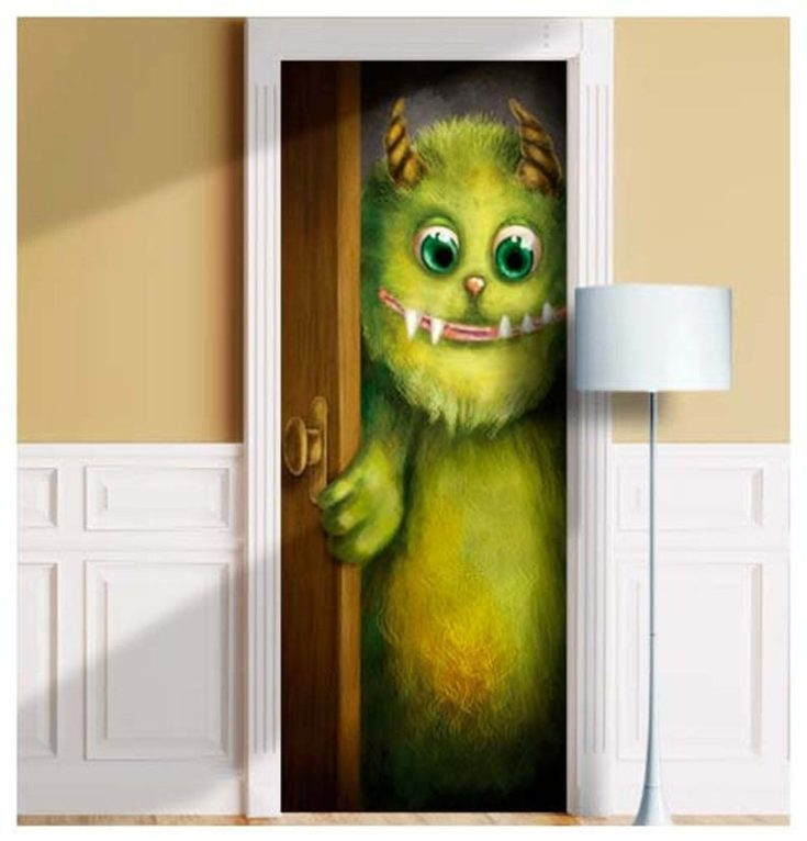 Trolling for Scary Door Decorations