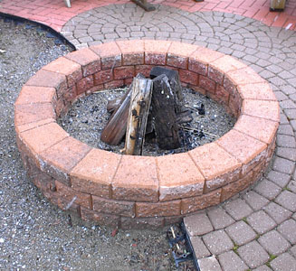 Large Round and Short Unilock Fire Pit