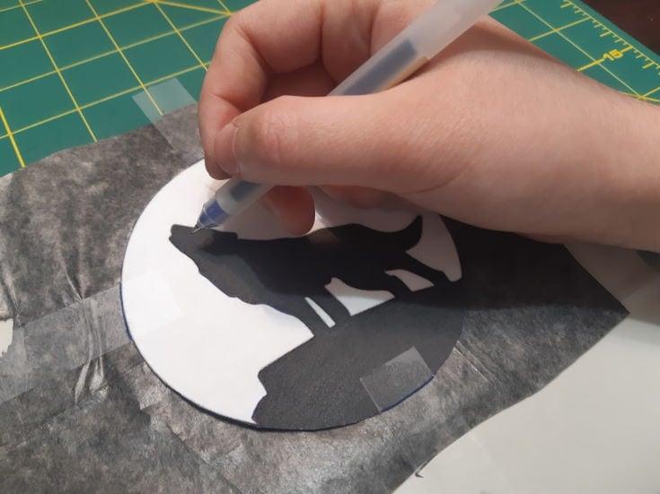 Transferring Design Onto the Stencil Material