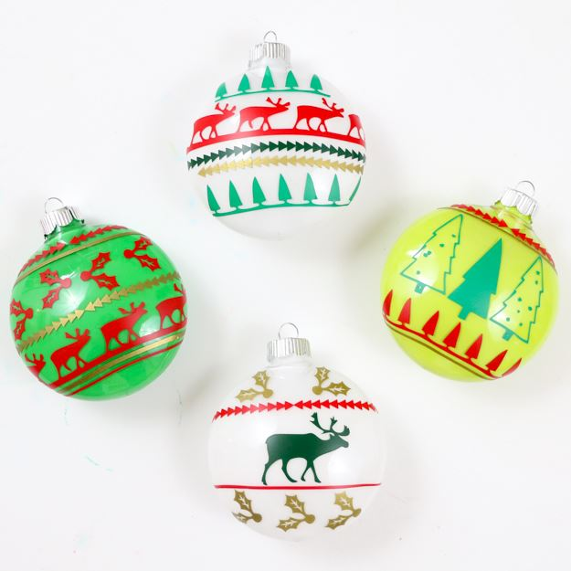 Christmas Balls Sweater in white background