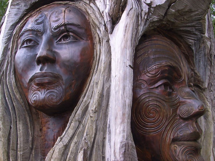 Carving man and woman