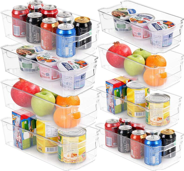 Storage with food and beverages