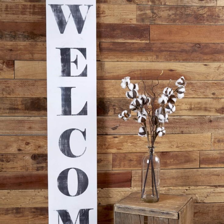 Vertical Welcome Stencil