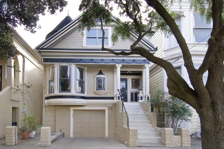 Victorian Exterior house with garage