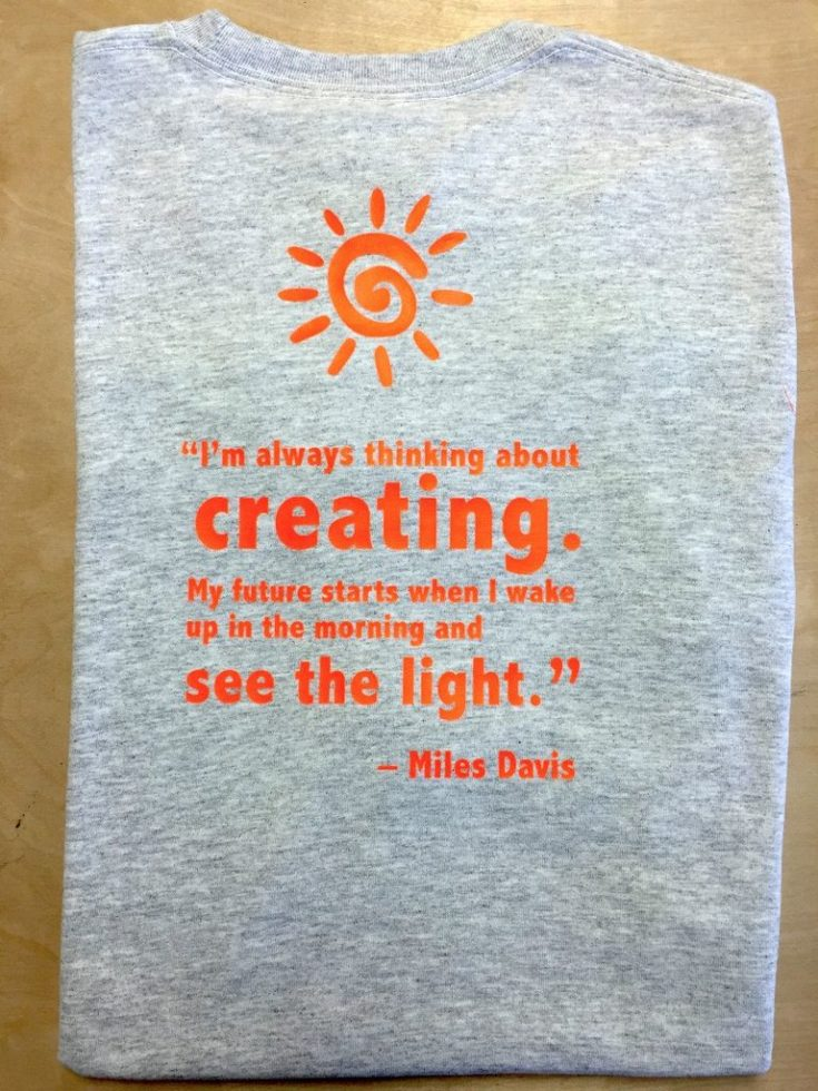personalize grey t-shirt with sayings - heat press vinyl