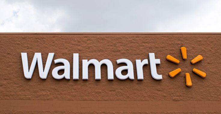 Walmart Logo in a building