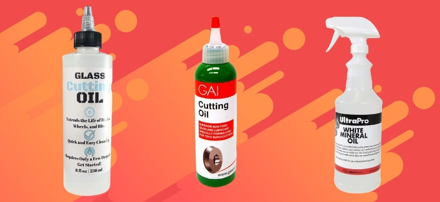 Three types of glass cutter oil.