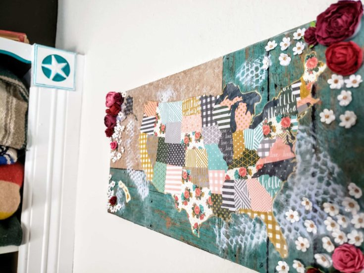 DIY Découpage on the white wall