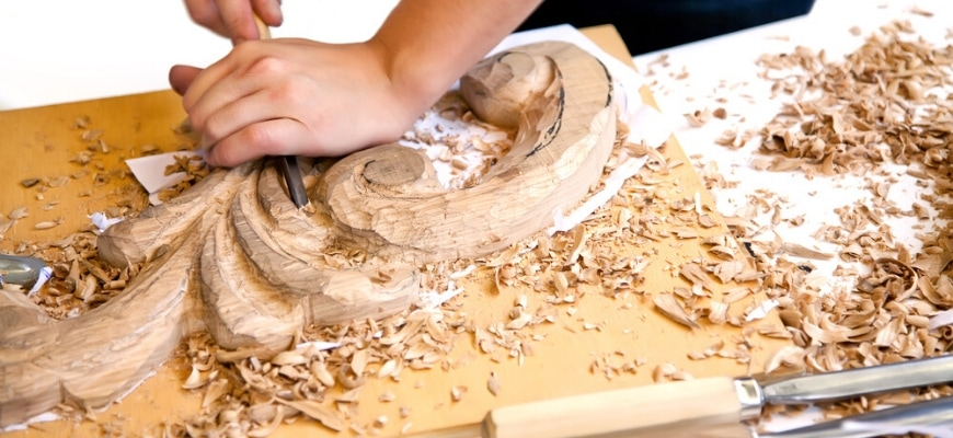 Man doing some wood carving