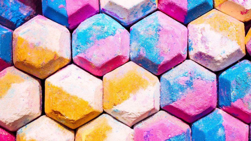 Colorful bathbombs