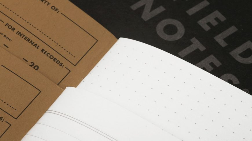 Close up image of notebook