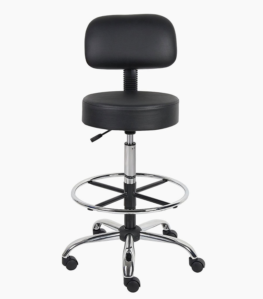 office drafting chair. boss office products b16245-bk be well medical spa drafting stool chair
