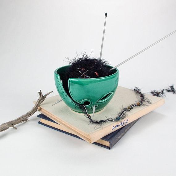 best green yarn bowl