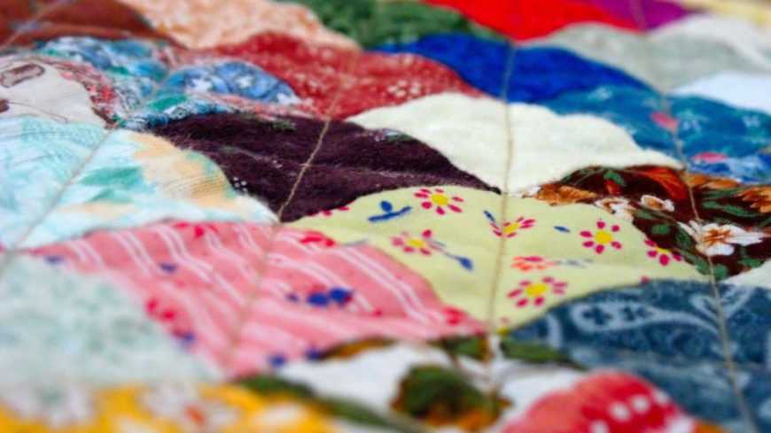 Colorful and has different prints quilts