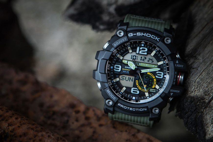 Close up shot of Military watch