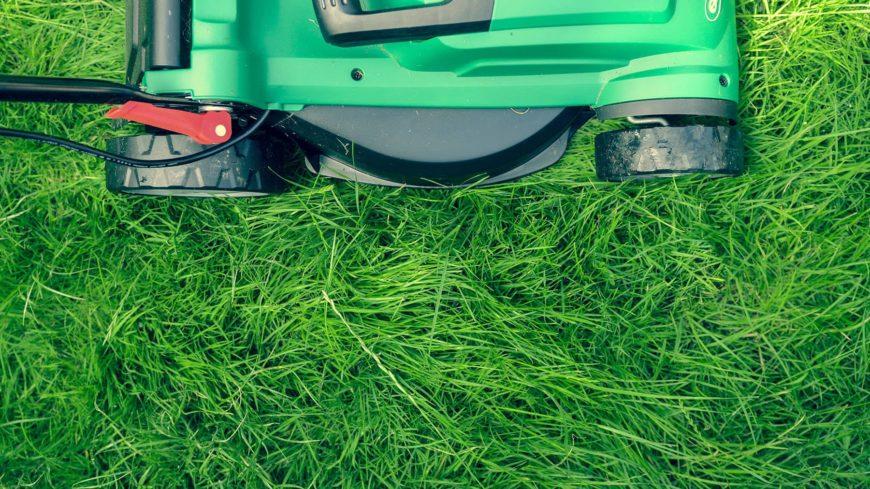 Mower on the grass