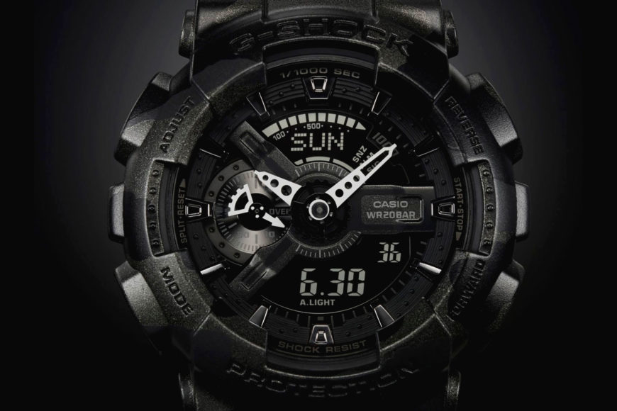 Focus image of black tactical watch