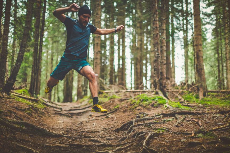 Man doing trail running