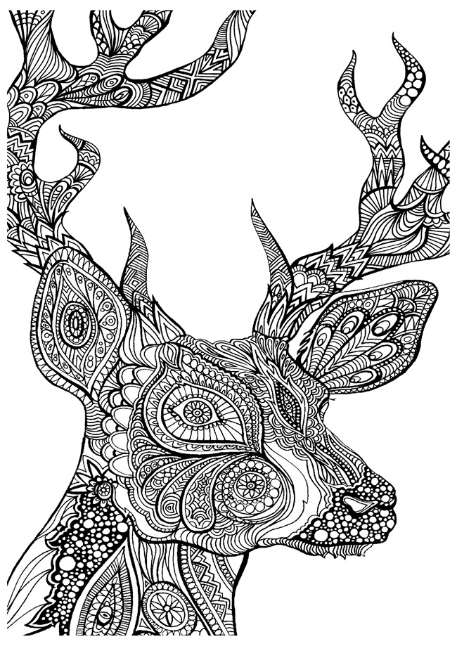 deer wood burning pattern printable free